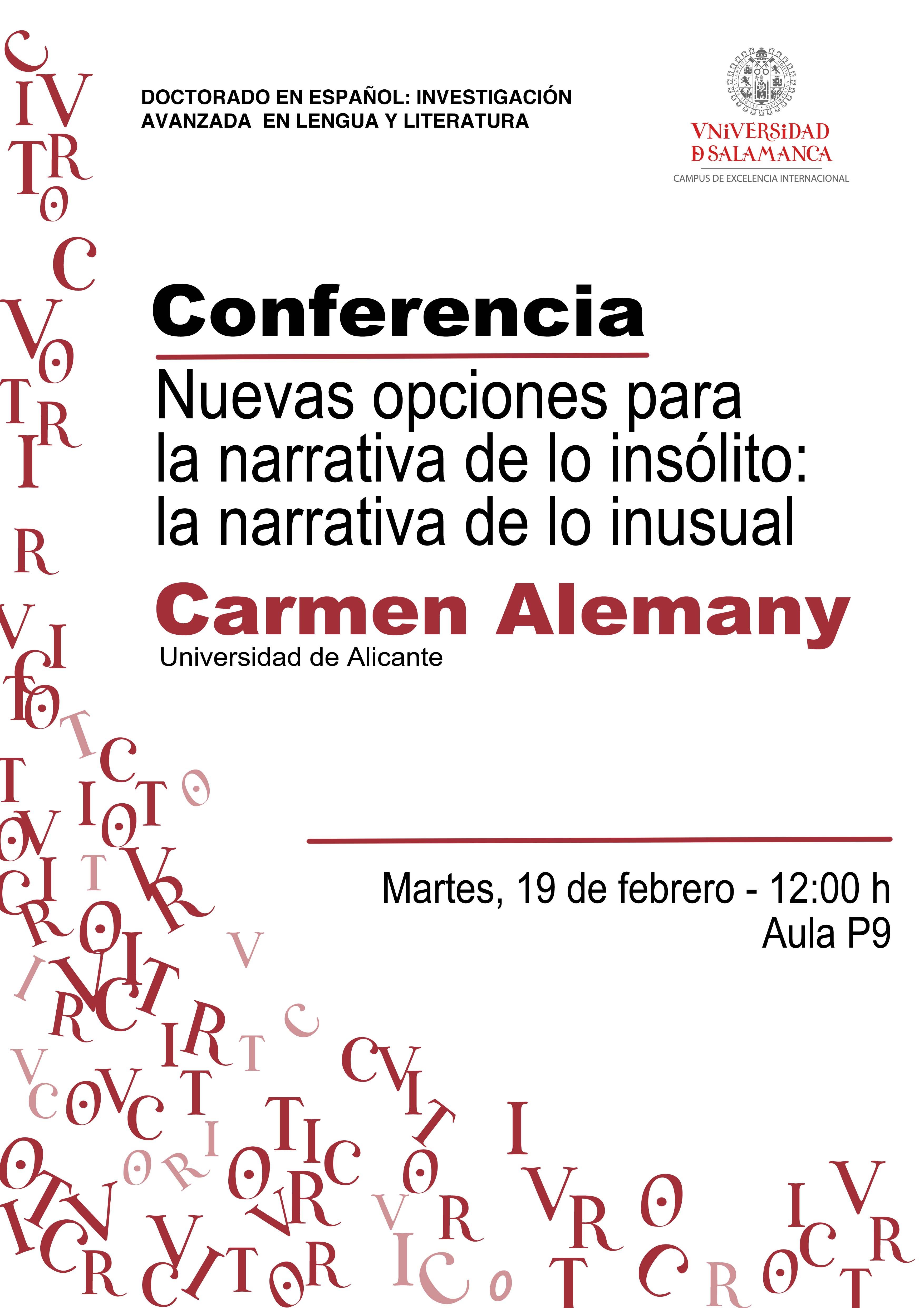 Conferencia de Carmen Alemany