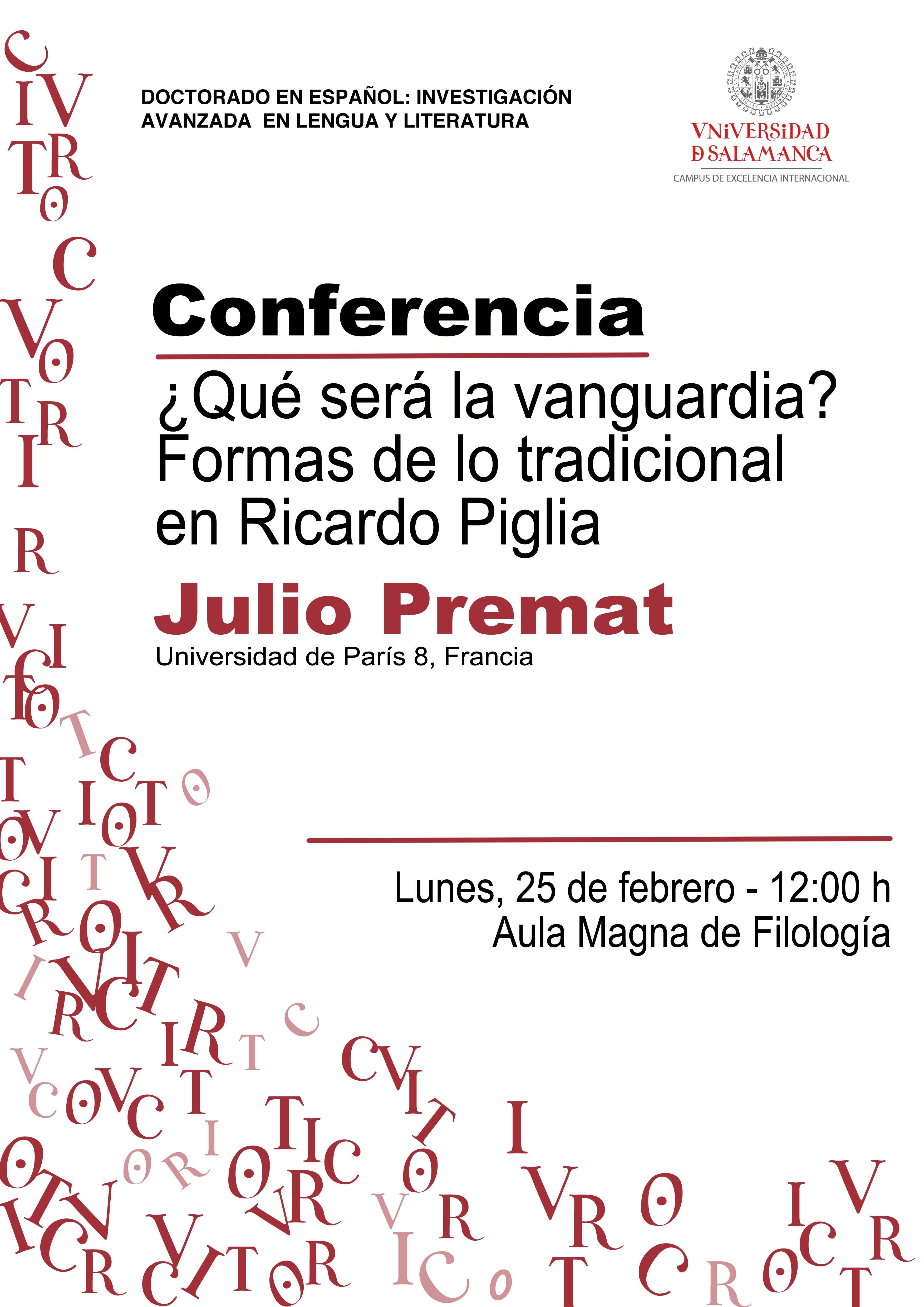 Conferencia de Julio Premat