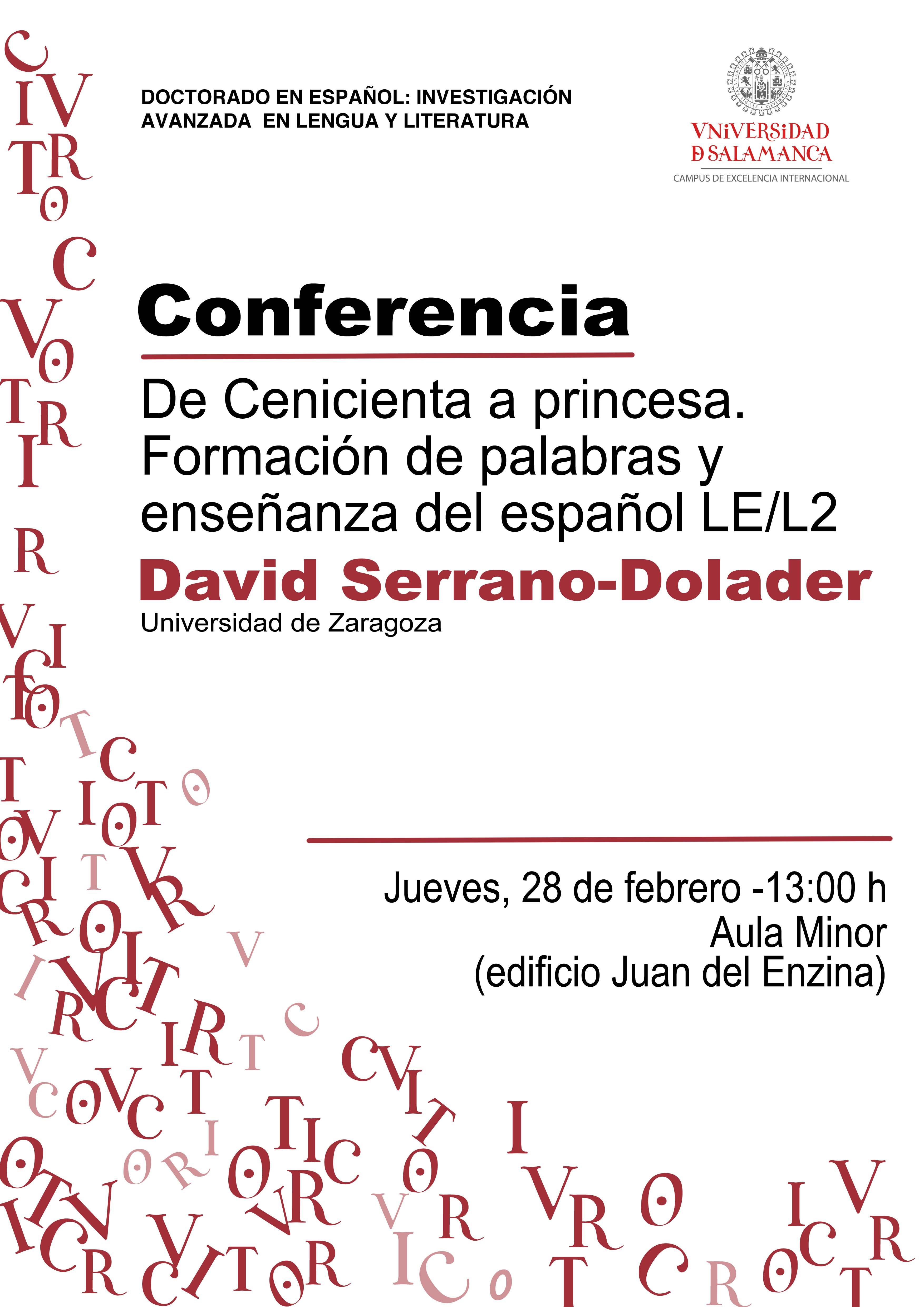 Conferencia de David Serrano-Dolader