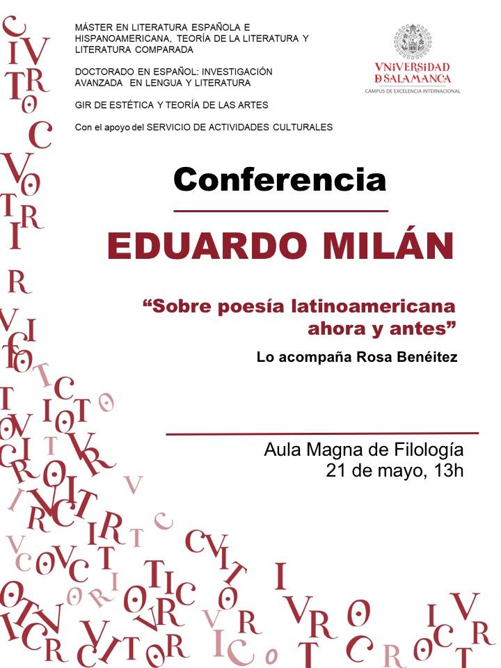 Eduardo Milán Conferencia