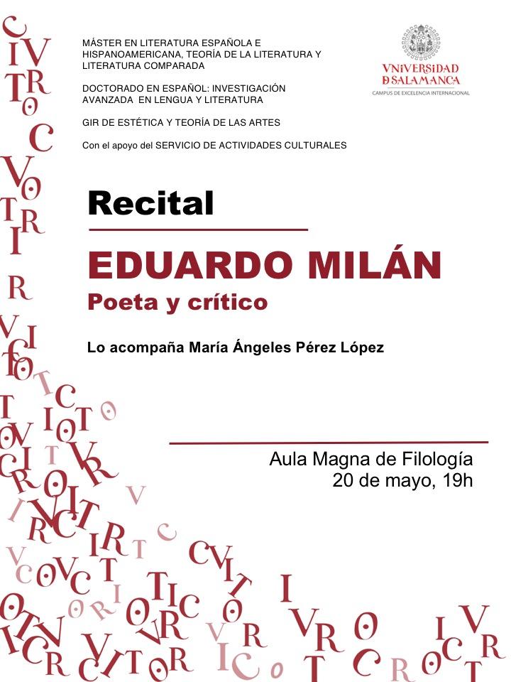Eduardo Milán Recital
