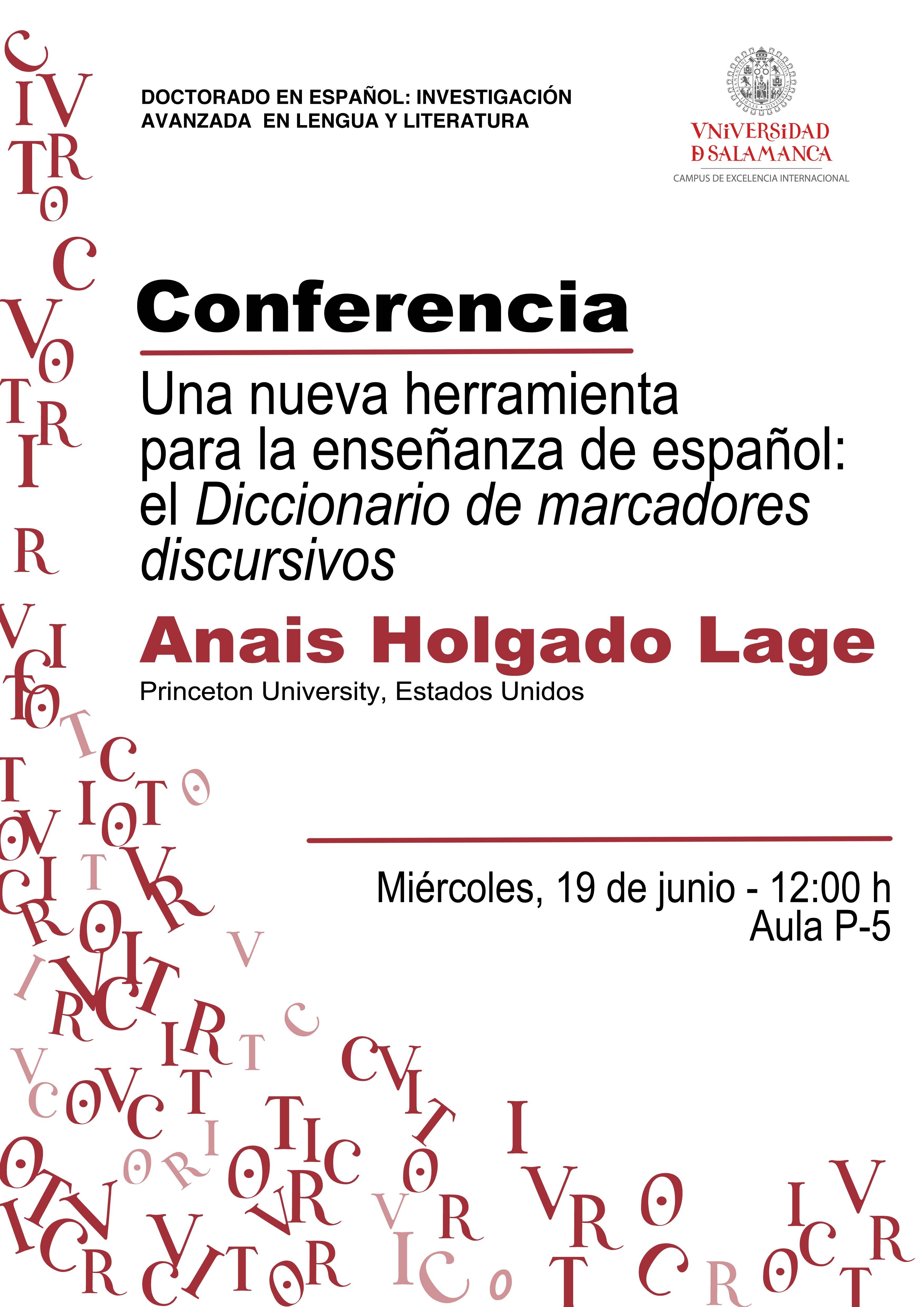 Conferencia de  Anais Holgado Lage